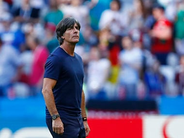 Germany's coach Joachim Low reacts after loss against south Korea. AFP