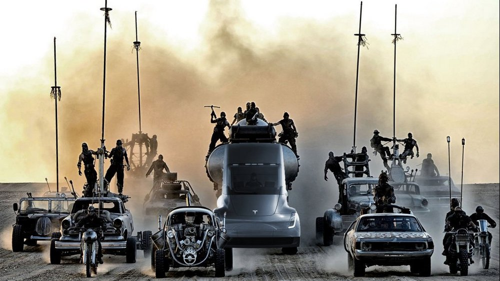 Elon Musk says development of a Mad Max inspired Cyborg Dragon Tesla is almost done