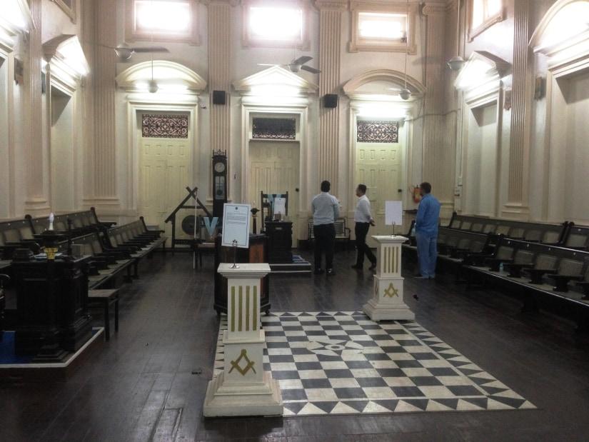 A glimpse inside the main temple