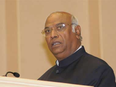 File image of Congress leader Mallikarjun Kharge. PIB