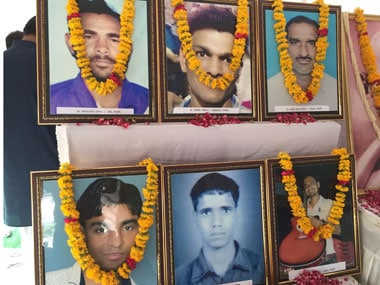 Victims of Mandsaur firing killed on 1 June 2017. News18/Manoj Sharma