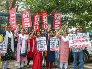Protests erupted over the abduction and rape of an 8-year-old girl in Mandsaur. PTI