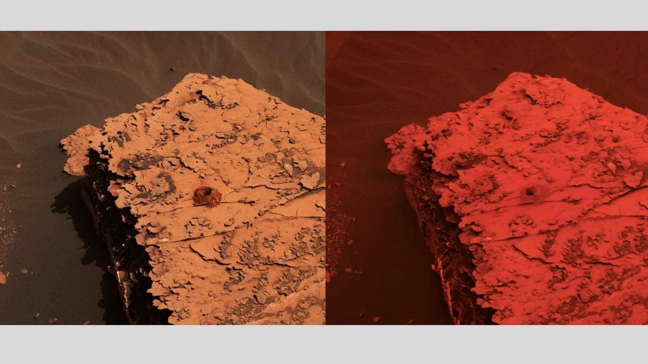 Change in the color of light illuminating the Martian surface. Image: NASA
