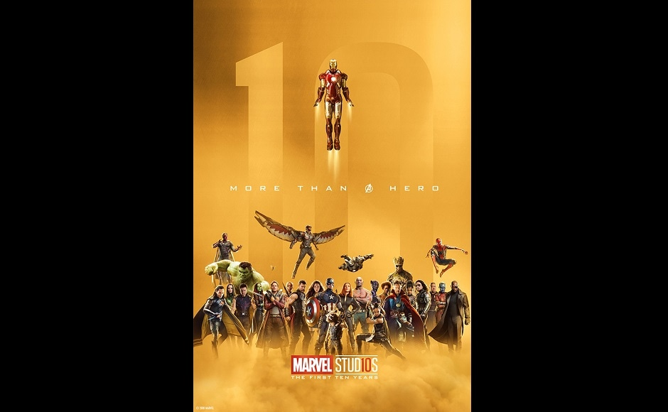 Marvel Studio's gold poster of the Avengers. Twitter@MarvelStudios