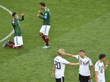 Defending champions Germany crashed to the first defeat in their opening game of a World Cup since 1982 as Hirving Lozano's clinical finish earned Mexico a shock 1-0 victory on Sunday. AFP