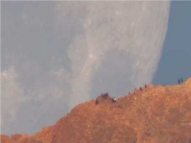Watch: Video shot through telescopic lens makes it seem like the moon is falling from the sky