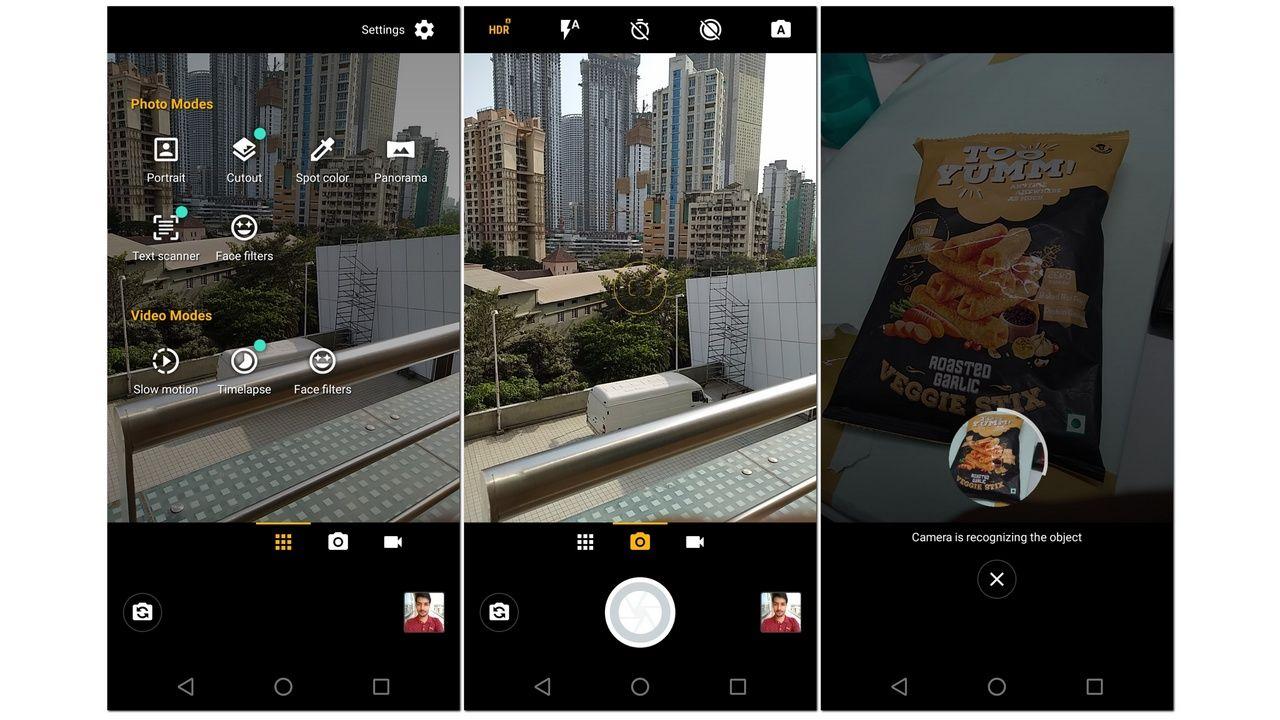 Moto G6 Camera UI