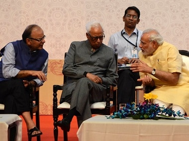 File image of NN Vohra with Narendra Modi and Arun Jaitley. AFP