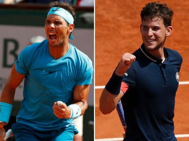 Rafael Nadal faces Dominic Thiem in the French Open final. Reuters