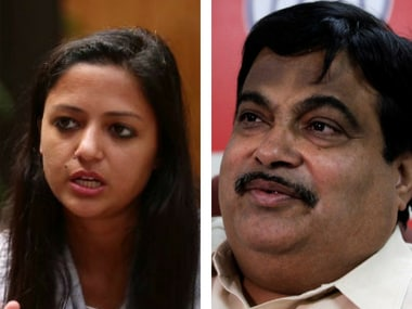 BJPs youth wing files complaint with police against Shehla Rashid for unpleasant remarks against Nitin Gadkari