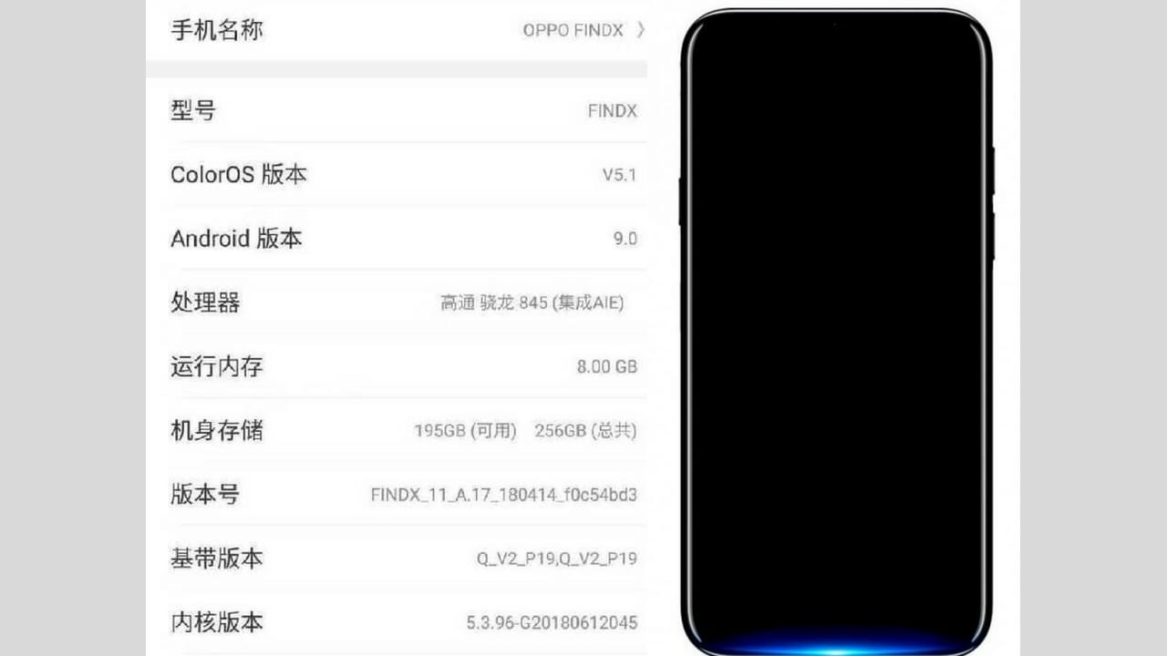 OPPO Find X Leaked Screenshot and Image on Twitter