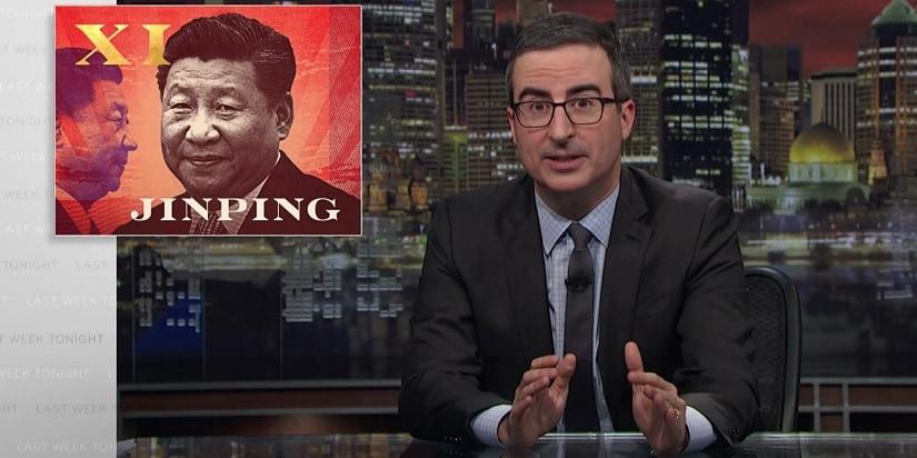 John Oliver criticised Xi Jinping's policies on Last Week Tonight. Youtube/LastWeekTonight