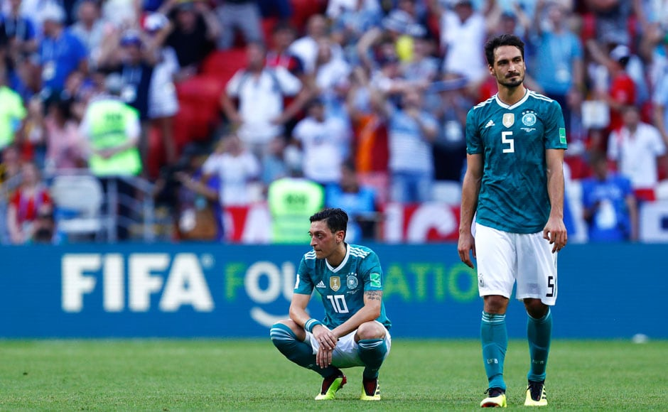Germany went into the match needing to win by at least 2 goals to ensure qualification. The Germans were unable to do capitalise on opportunities that came their way, and were made to pay for it by South Korea. AFP