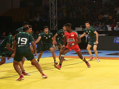 Pakistan prevailed over Kenya 43-21 to finish the first leg matches with five points. Image courtesy: Agencies