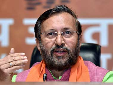 File image of Union Human Resources Development Minister Prakash Javadekar. PTI