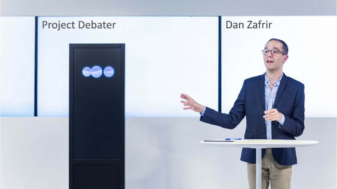 Project Debater and Dan Zafrir have a rebuttal. Image: IBM RESEARCH