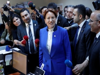 File image of Turkey's nationalist Opposition Party, Meral Aksener . Reuters