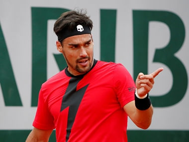 Tennis - French Open - Roland Garros, Paris, France - May 29, 2018 Italy's Fabio Fognini during his first round match against Spain's Pablo Andujar REUTERS/Pascal Rossignol - RC1808CEF2E0