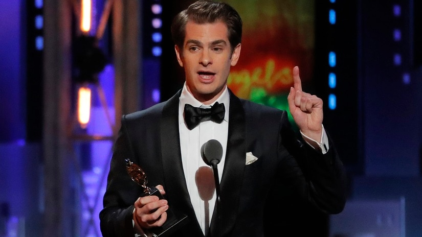 Andrew Garfield at the 72nd Tony Awards. Reuters