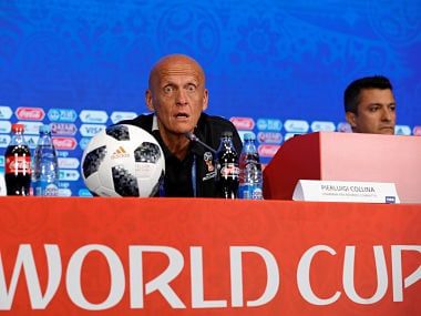 Soccer Football - World Cup - Referees News Conference - Moscow, Russia - June 12, 2018. FIFA Chairman of Referees Committee Pierluigi Collina attends a news conference. REUTERS/Tatyana Makeyeva - RC196A67A5D0