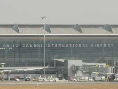File image of Rajiv Gandhi International Airport. PTI
