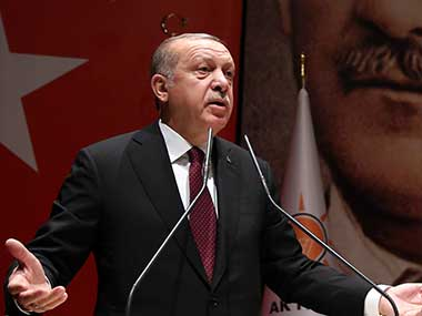 Turkish President Recep Tayyip Erdogan. AP
