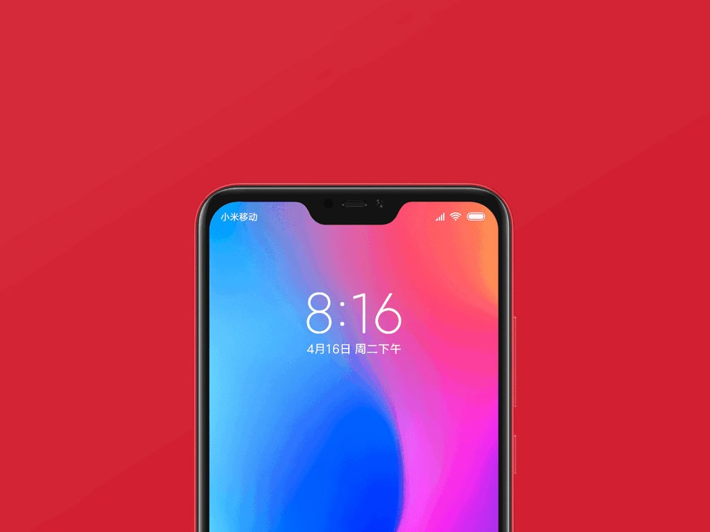 The notch on the Redmi 6 Pro can be hidden via software