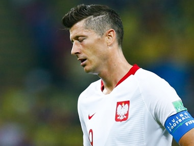 FIFA World Cup 2018: Robert Lewandowski fails to reproduce club form in international colours as Poland are eliminated