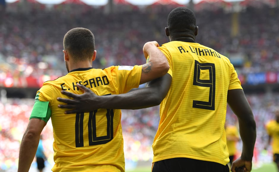 Eden Hazard and Romelu Lukaku notched up braces as Belgium beat Tunisia 5-2 to qualify for the next round. With two defeats in two matches, Tunisia only stand a slight mathematical chance of qualifying in second place, which hinges on England losing both their remaining group stage matches. AFP
