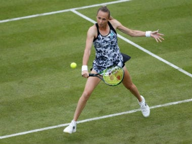 Slovakia's Magdalena Rybarikova in action during her Round of 32 match against Czech Republic's Karolina Pliskova. Reuters