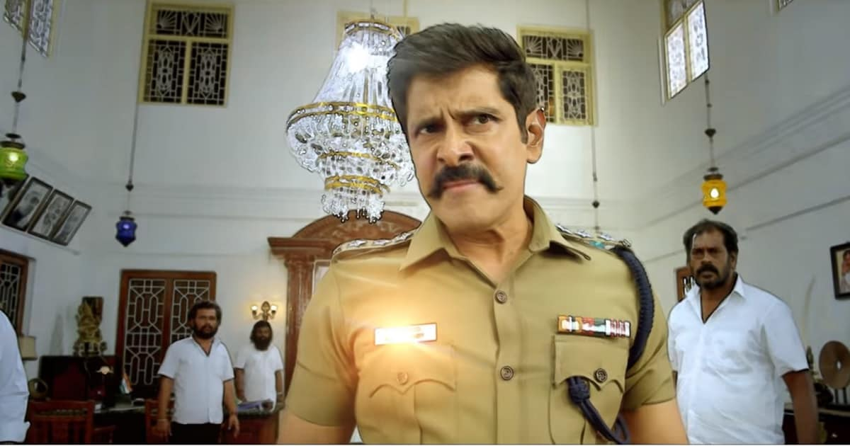 Vikram in a still from Saamy Square. YouTube screengrab