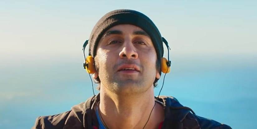 Ranbir Kapoor in a still from Sanju