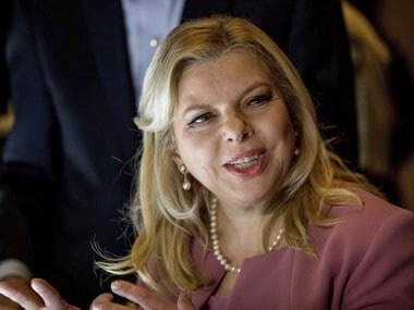 File photo of Sara Netanyahu, wife of Israeli Prime Minister Benjamin Netanyahu. AP