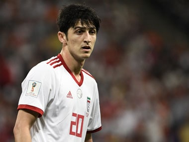 Sardar Azmoun is one of the brightest young footballers in the Iranian set-up. AFP