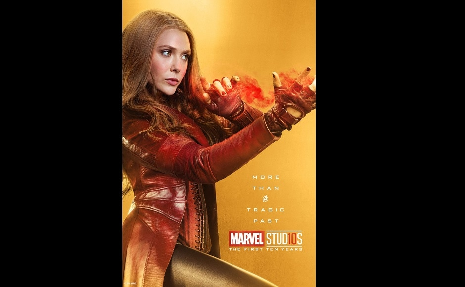 Elizabeth Olsen as the Scarlet Witch. Twitter@MarvelStudios