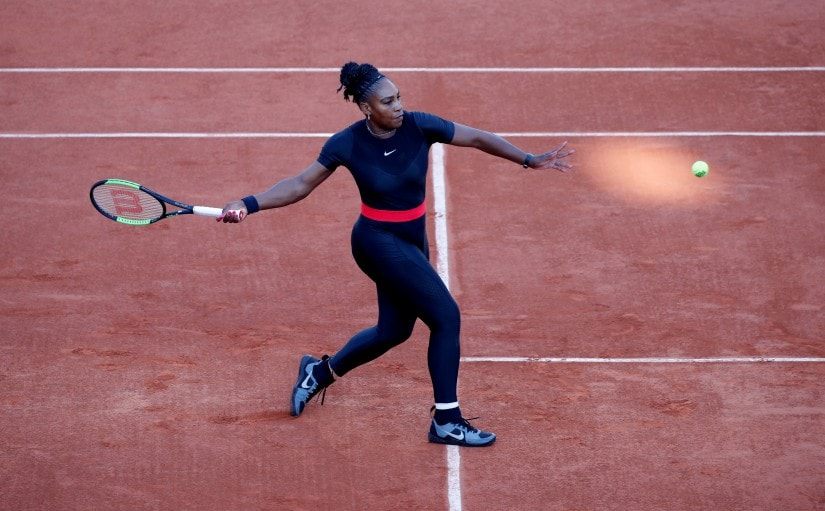 Serena Williams in action during her second round match against Australia's Ashleigh Barty at the French Open. Reuters