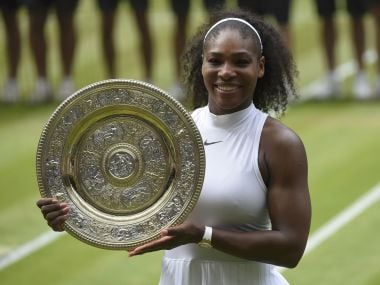 Britain Tennis - Wimbledon - All England Lawn Tennis & Croquet Club, Wimbledon, England - 9/7/16 USA's Serena Williams celebrates winning her womens singles final match against Germany's Angelique Kerber with the trophy REUTERS/Toby Melville Picture Supplied by Action Images - MT1ACI14475404