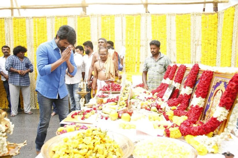 Sivakarthikeyan performs a pooja ahead of the film's shooting