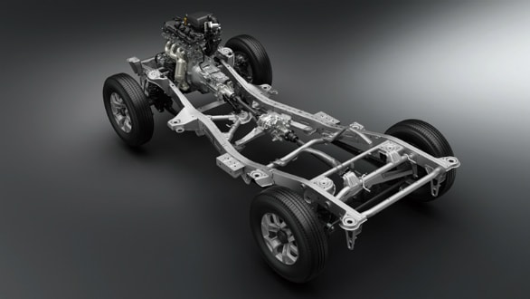 Suzuki Jimney comes with ladder frame construction.