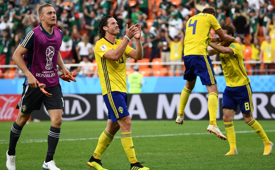 Sweden finished in first place in their group, despite losing 2-1 to Germany. Mexico also qualified, having beaten Germany and South Korea. AFP