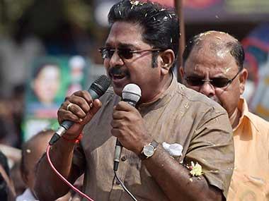 File photo pf TTV Dhinakaran. PTI