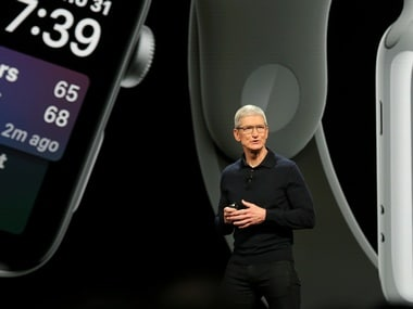 Apple Chief Executive Officer Tim Cook speaks at the Apple Worldwide Developer Conference (WWDC) in San Jose, California. Reuters.