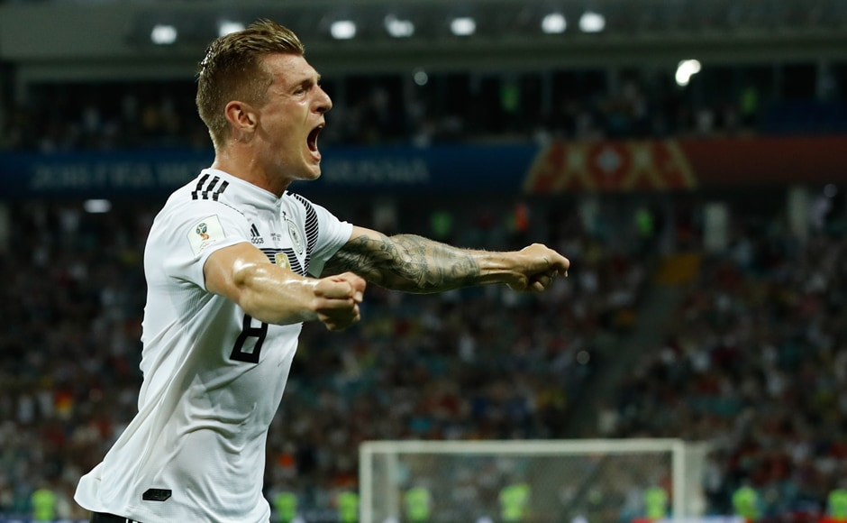 German midfielder Toni Kroos scored via a free kick late into added time at the end of the second half. Germany's victory means that they still have a decent chance of qualifying for the next round, should they beat South Korea. AFP
