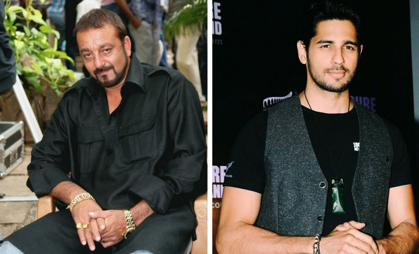 Sanjay Dutt and Sidharth Malhotra/Image from Twitter.