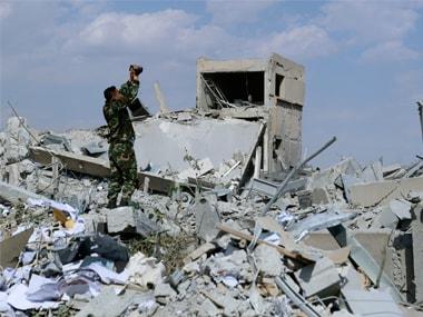 Representational image of US strike on Syria. AP