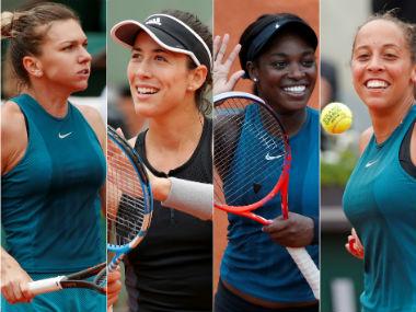 Simona Halep, Garbine Muguruza, Solane Stephens and Madison Keys. Agencies