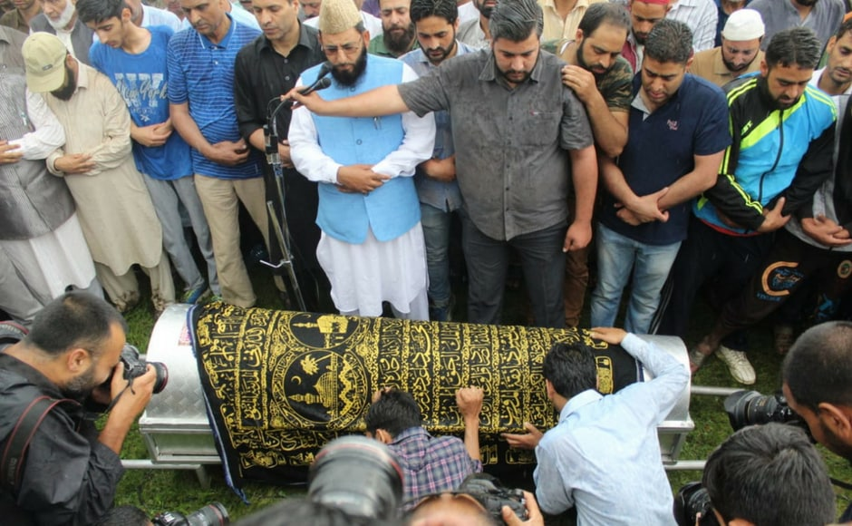 Hundreds bid farewell to Shujaat Bukhari as senior journalist laid to rest in ancestral village in Kashmir's Baramulla