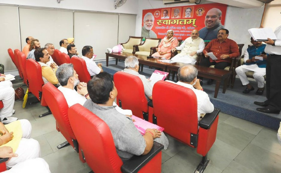 Amit Shah also held talks wit the Punjab's Lok Sabha in charges, in Chandigarh.