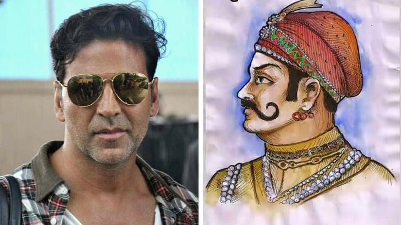 Akshay Kumar (left); representational image of Prithviraj Chauhan (right). Facebook