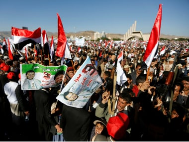 File image of Pro-Houthi protests. Reuters